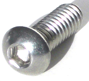 Harley Custom Seat Bolt - Button Head - Stainless Steel