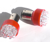 1156 Turn Signal Red LED Bulbs - Set of 2