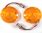 Low Profile Amber Lenses w/ 1157 Amber LED Bulbs - Set of 2