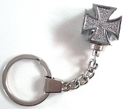 Chrome Key Chain - Iron Cross - Chrome