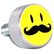 Harley Twin Cam Air Cleaner Bolt - Chrome Billet - Smile 'Stache