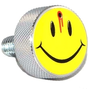 Harley Twin Cam Air Cleaner Bolt - Chrome Billet - Smile Shot