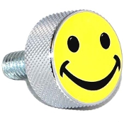 Harley Twin Cam Air Cleaner Bolt - Chrome Billet Smile Face