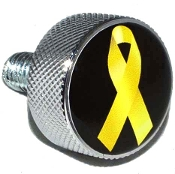 Harley Twin Cam Air Cleaner Bolt - Chrome Billet Ribbon Yellow B