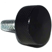 Harley Twin Cam Air Cleaner Bolt - Black Billet Knurled - LG