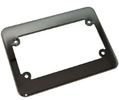 Motorcycle License Plate Frame - Phat - Black Chrome