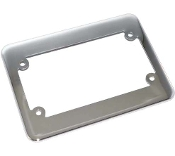 Motorcycle License Plate Frame - Phat - Chrome