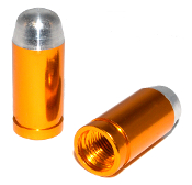 Bullet Valve Stem Caps - Gold - Set of 2