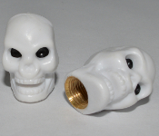 Skull Valve Stem Caps - White - Set of 2
