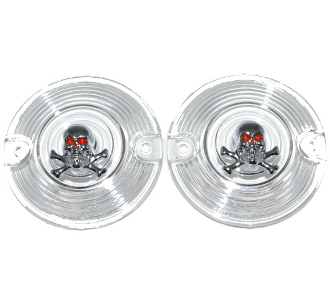 Low Profile Clear Lenses - Skull & Bones - 2
