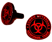 Black Billet License Frame Bolts - Zombie Outbreak - R/B