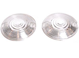 Low Profile Clear Turn Signal Lenses - Set of 2