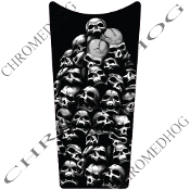 89-07 Road & Electra Glide Dash Insert Decal - Skull Pile 3/4