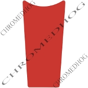 89-07 Road & Electra Glide Dash Insert Decal - Solid Red