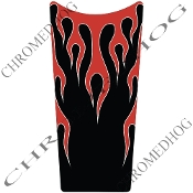 89-07 Road & Electra Glide Dash Insert Decal - Flame Red/Black