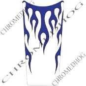 89-07 Road & Electra Glide Dash Insert Decal - Flame Blue/Wht