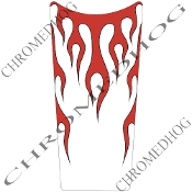 89-07 Road & Electra Glide Dash Insert Decal - Flame Red/White