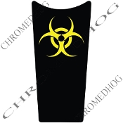 89-07 Road & Electra Glide Dash Insert Decal - Bio Hazard Yellow