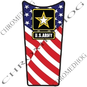 89-07 Road & Electra Glide Dash Insert Decal - US Army Logo Flag