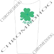 89-07 Road & Electra Glide Dash Insert Decal - Clover Irish W