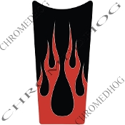 89-07 Road & Electra Glide Dash Insert Decal - Flame 2 Red Up