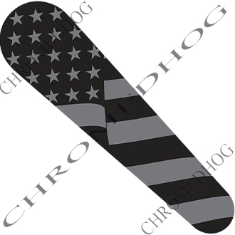08-Up FLHX Street Glide Dash Insert Decal - Flag Ghost American