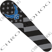 08-Up FLHX Street Glide Dash Insert Decal - USAF Ghost Flag