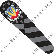 08-Up FLHX Street Glide Dash Insert Decal - USAF TAC Ghost Flag