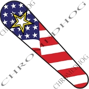 08-Up FLHX Street Glide Dash Insert Decal - Army Star USA Flag