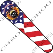 08-Up FLHX Street Glide Dash Insert Decal - Fire Fighter US Flag