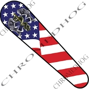 08-Up FLHX Street Glide Dash Insert Decal - Paramedic USA Flag