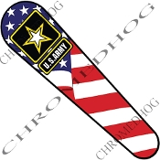 08-Up FLHX Street Glide Dash Insert Decal - Army Logo USA Flag