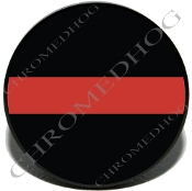 Knurled Valve Stem Caps - Red Line Black - 2