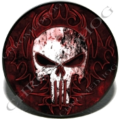 Knurled Valve Stem Caps - Punisher Skull - 2