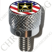 Harley Custom Seat Bolt - S KN Chrome Billet - US Army L US Flag