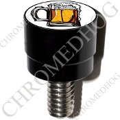 Harley Custom Seat Bolt - S SM Black Billet - Beer Mug