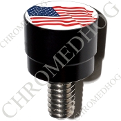Harley Custom Seat Bolt - S SM Black Billet Flag - American