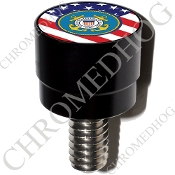 Harley Custom Seat Bolt - S SM Black Billet Coast Guard - USFlag