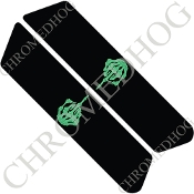 96-07 Police Saddlebag Decals - Finger - Green/ Black