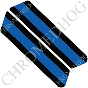 96-07 Police Saddlebag Decals - Blue Line