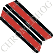 96-07 Police Saddlebag Decals - Red Line - Silver
