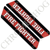 96-07 Police Saddlebag Decals - Red Line - Fire Fighter