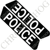 96-07 Police Saddlebag Decals - Police - Black