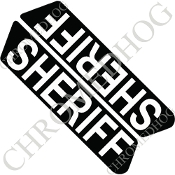 96-07 Police Saddlebag Decals - Sheriff - Black