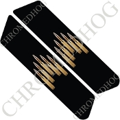 96-07 Police Saddlebag Decals - Bullets - 5U