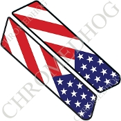 96-07 Police Saddlebag Decals - Flag - USA