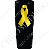 08-15 Ultra & Electra Glide Dash Insert - Ribbon Yellow/B