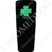 08-15 Ultra & Electra Glide Dash Insert - Clover Irish Black