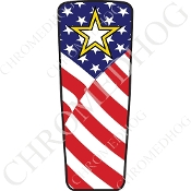 08-15 Ultra & Electra Glide Dash Insert - Army Star USA Flag