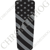 08-15 Ultra & Electra Glide Dash Insert - Flag Ghost American